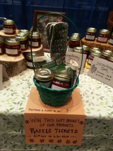 We also had a gift basket of our products that we sold raffle tickets for and gave away at the end of the expo.